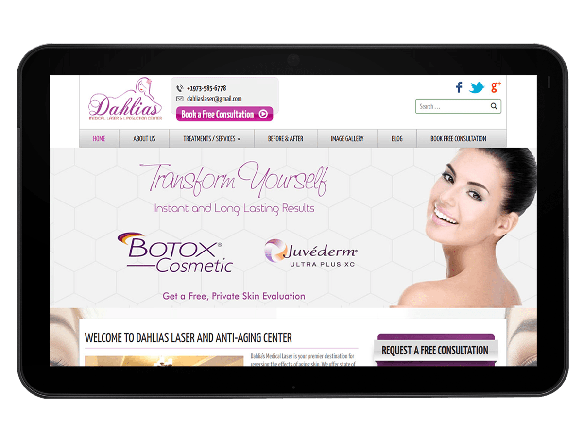 Beauty Salon and Spa Website Design & Development
