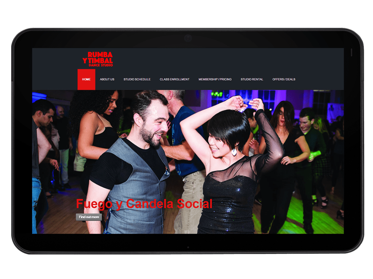 Dance School Website Design, Development and SEO Marketing