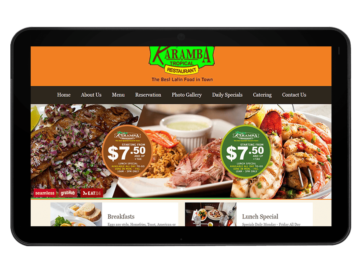 Restaurant Website Design, Development and Social Media Marketing